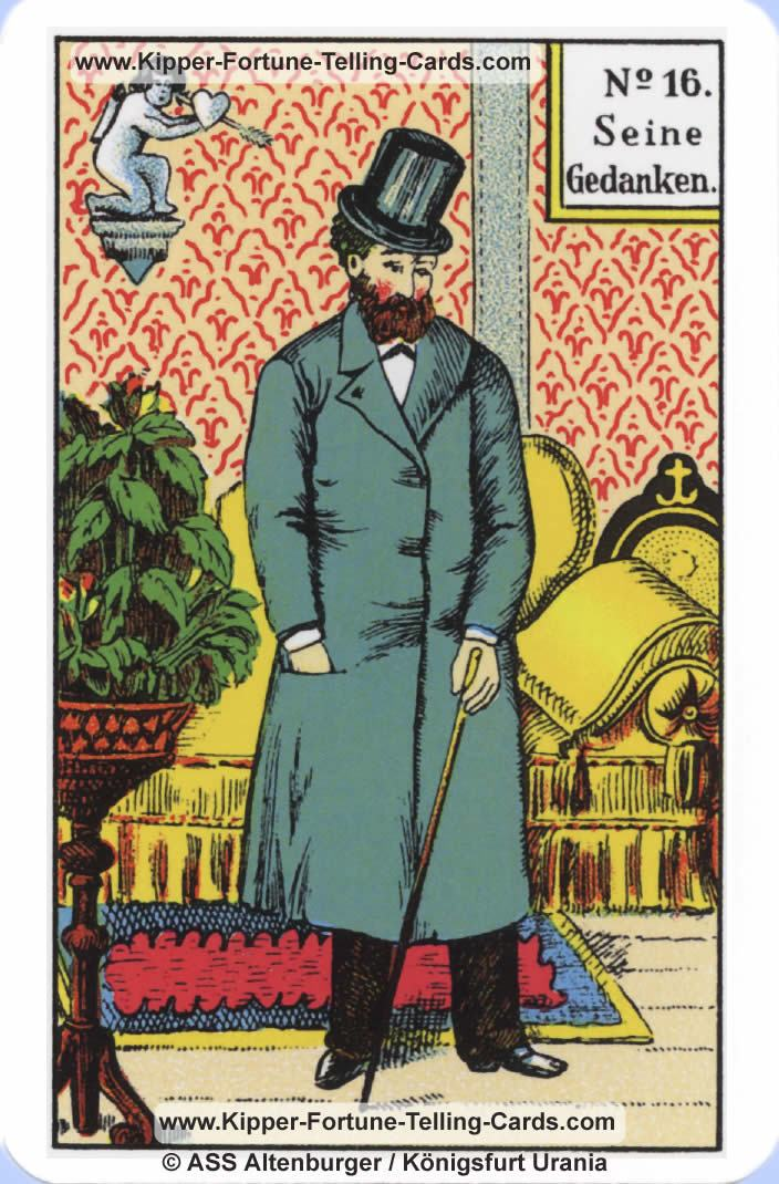 His thoughts Original Kipper Cards card reading | meaning