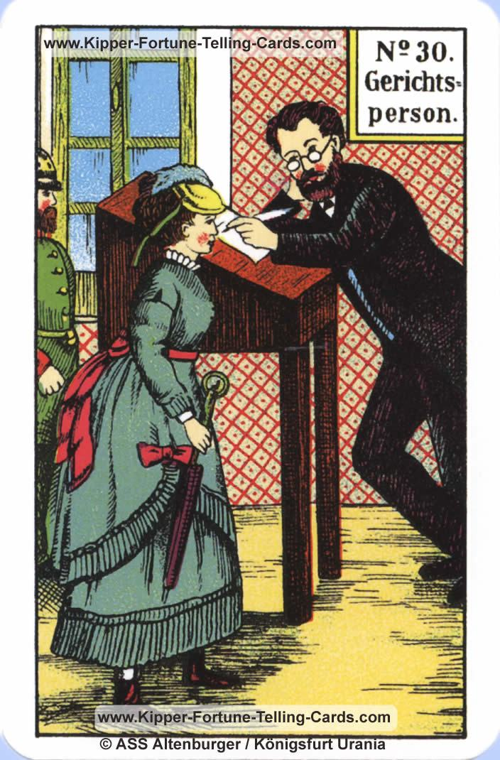 Courts Person Original Kipper Cards card reading | meaning