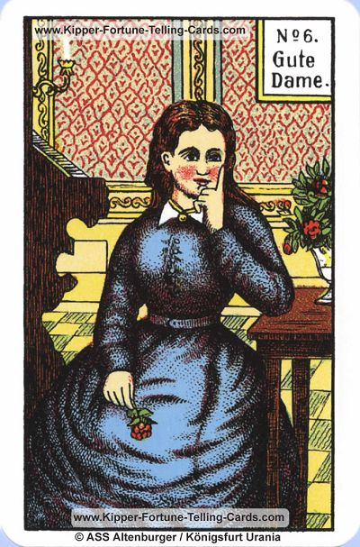 Original Kipper Cards Meanings the good Lady