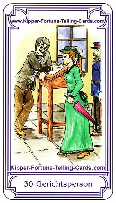 Salish Kipper Cards Meaningsthe Courts person