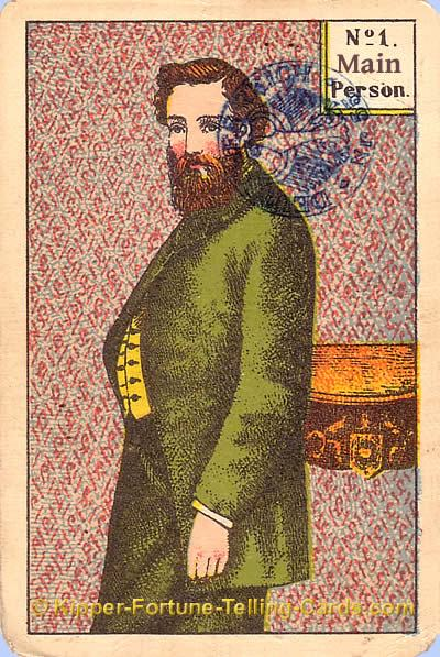 Antique Kipper Cards meaning the main Person male