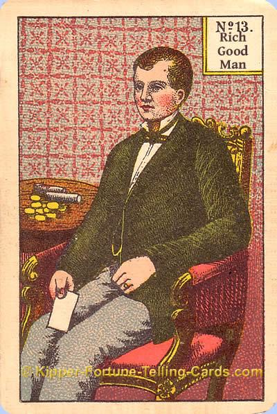 Antique Kipper Cards meaning the rich good man
