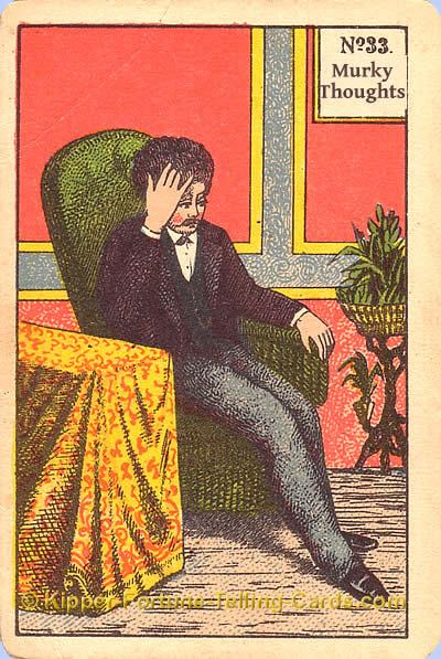 Antique Kipper Cards meaning the murky thoughts