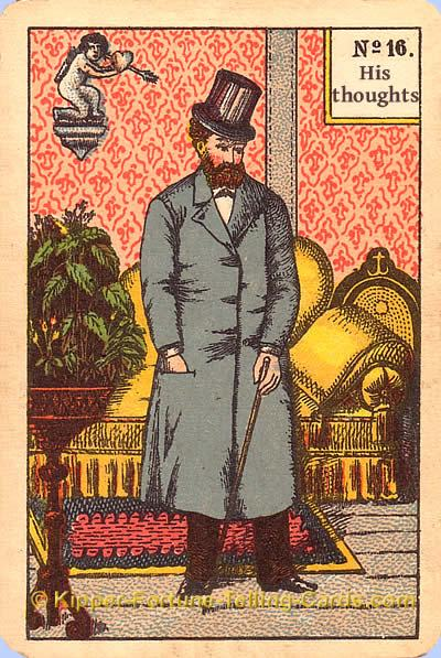 His thoughts meaning of Kipper Tarot cards
