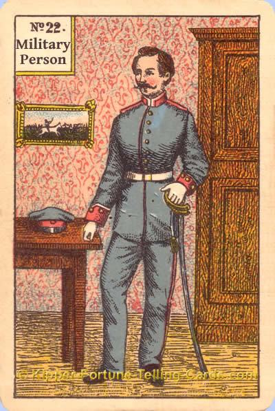 Military person meaning of Kipper Tarot cards